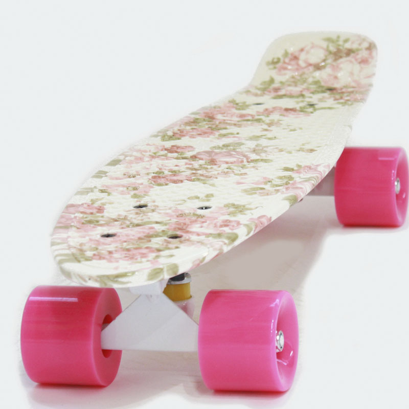 Cкейтборд Hubster Cruiser 22 Design Flowers