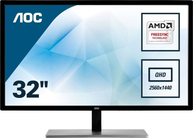 Монитор AOC Q3279VWF 31.5 Quad HD 2k FreeSync