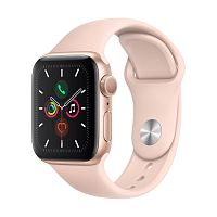 Купить APPLE APPLE Смарт-часы Apple Watch S5 40mm Gold Aluminium Case with Pink Sand Sport Band в каталоге интернет магазина на Avshop.RU, отзывы, фотографии