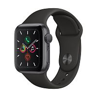 Купить APPLE APPLE Смарт-часы Apple Watch S5 40mm Space Grey Aluminium Case with Black Sport Band в каталоге интернет магазина на Avshop.RU, отзывы, фотографии