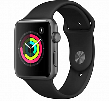 Купить APPLE Apple Смарт-часы Apple Watch Series 3 GPS, 42mm Space Grey Aluminium Case with Black Sport Band в каталоге интернет магазина на Avshop.RU, отзывы, фотографии