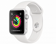 Купить APPLE Apple Смарт-часы Apple Watch Series 3 GPS, 42mm Silver Aluminium Case with White Sport Band в каталоге интернет магазина на Avshop.RU, отзывы, фотографии